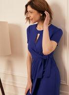 Tie Detail Day Dress, Blue