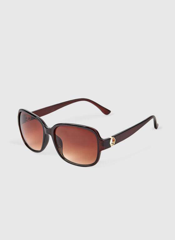 Oversized Sunglasses, Brown, hi-res