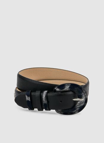 Vince Camuto - Ceinture avec boucle à imprimé animalier, Noir, hi-res,  ceinture en cuir, faux cuir