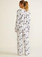 Ensemble pyjama à motif d'animaux, Noir