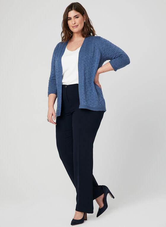 Pantalon coupe moderne à jambe droite, Bleu