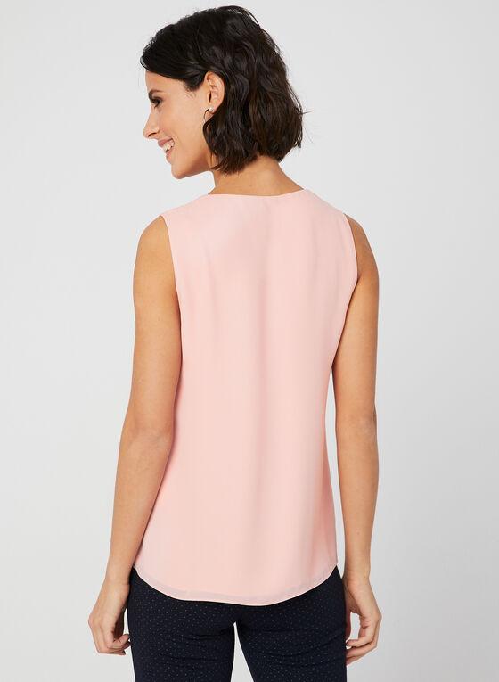 Asymmetric Sleeveless Blouse, Pink, hi-res