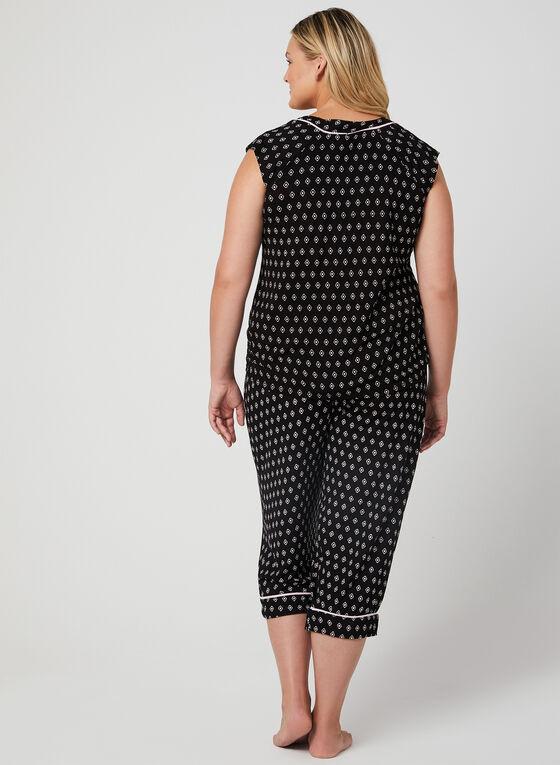 René Rofé - Abstract Print Pyjama Set, Black, hi-res
