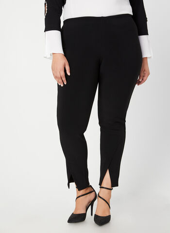 Joseph Ribkoff - City Fit Slim Leg Pants, Black,  canada, city fit, pant, slim leg, slim leg pant, ponte de roma, elastic, comfortable, fall 2019, winter 2019