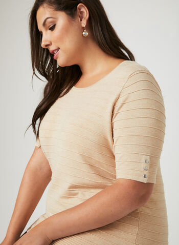Ottoman Knit Short Sleeve Sweater, Off White, hi-res