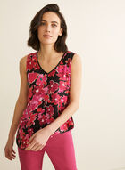 Sleeveless Floral Print Blouse, Multi