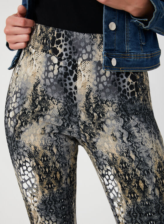 Snakeskin Print City Fit Pants, Brown