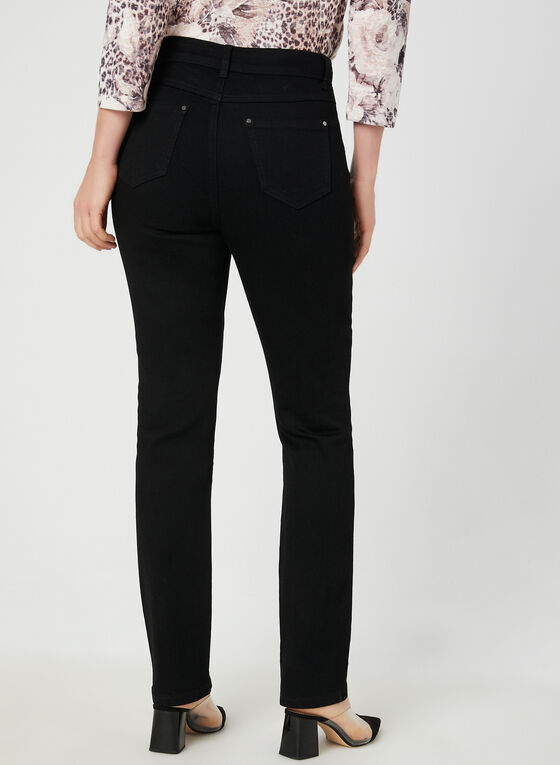 Signature Fit Straight Leg Jeans, Black