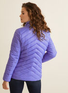 Ethical Down Quilted Coat, Blue