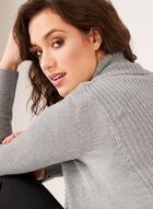 Cardigan ouvert en tricot et col châle, Gris, hi-res