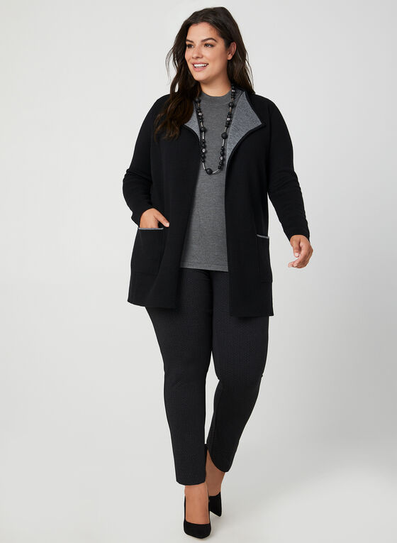 Wool Blend Cardigan, Black