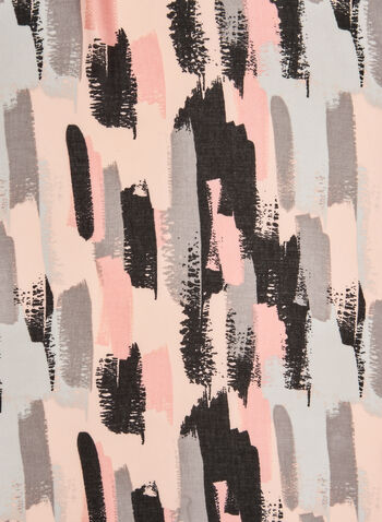 Foulard à motif de coups de pinceau, Rose,  artistique, art, arts, multicolore, automne hiver 2019