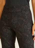 Paisley Print Pull-On Pants, Black