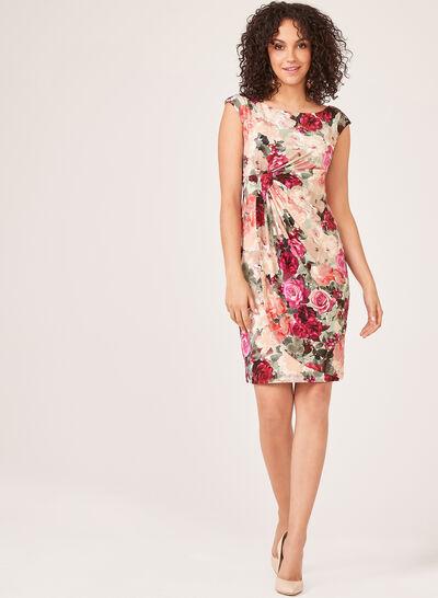Floral Print Faux Wrap Dress