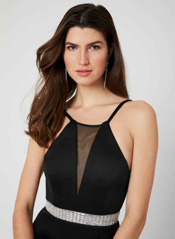Cleo Neck Dress, Black