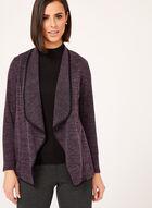 Cascade Front Knit Cardigan, Purple, hi-res