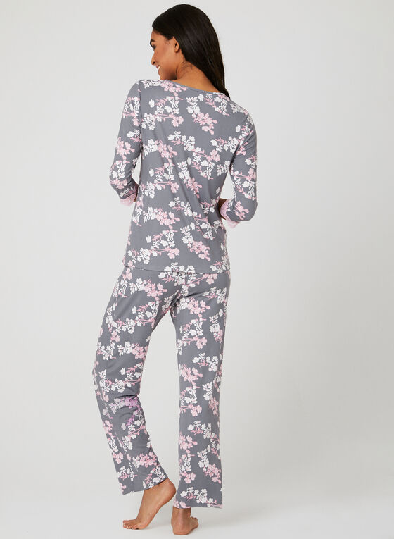 Hamilton - Ensemble pyjama fleuri, Bleu, hi-res