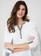 ¾ Sleeve Henley T-Shirt, White, hi-res