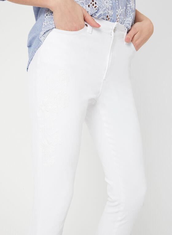 GG Jeans - Jean coupe moderne à jambe étroite, Blanc, hi-res