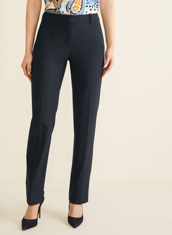 Modern Fit Straight Leg Pants, Blue,  pants, trousers, Modern Fit, straight leg, shaped hips, contour waist, bi-stretch, spring 2020