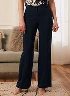Louben - Pantalon coupe moderne à jambe large, Bleu