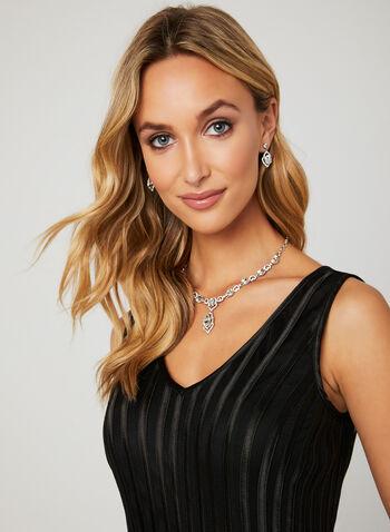 Ribbon Belted Dress, Black, hi-res
