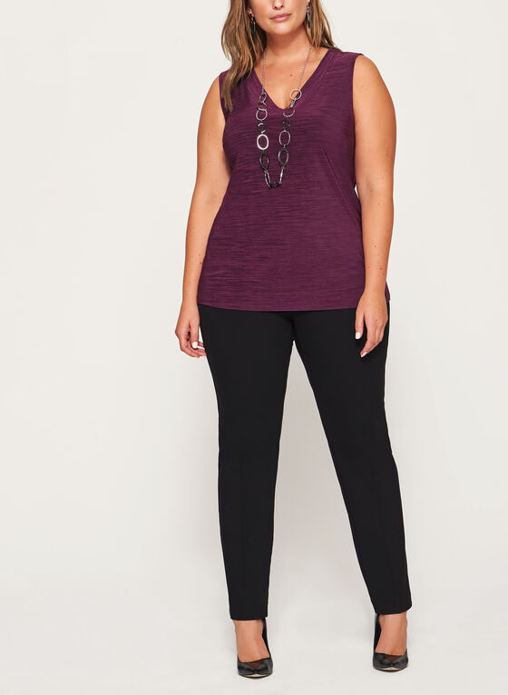 Heather Print Jersey Top , Purple, hi-res