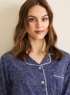 Claudel Lingerie - Printed Pyjama Set, Blue