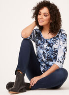 Abstract Paisley Floral Mix Print Blouse, Blue, hi-res