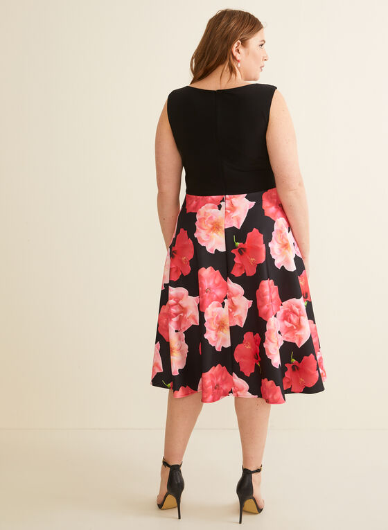 Joseph Ribkoff - Floral Print Evening Dress, Black