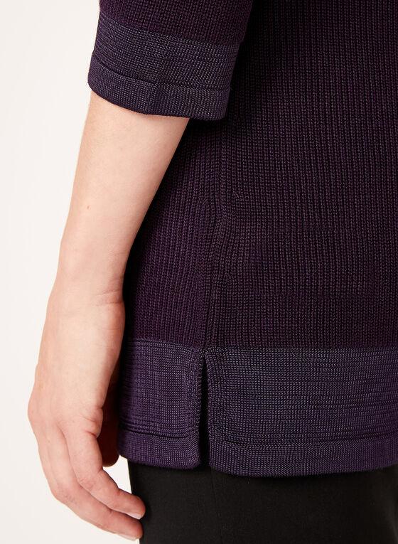 Shaker Stitch Tunic Sweater, Red, hi-res