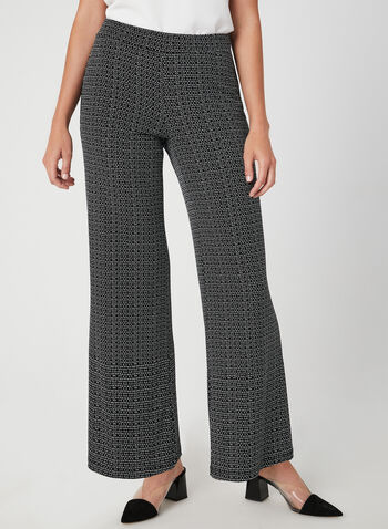 Modern Fit Wide Leg Pants, Black, hi-res,  fall 2019, winter 2019, jersey, wide leg, pull-on