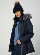 Faux Fur Matte Coat, Blue