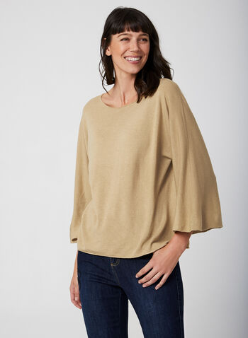 Made in Italy - Chandail à manches chauve-souris, Brun,  automne hiver 2019, tricot, manches dolman, manches chauve-souris, chandail