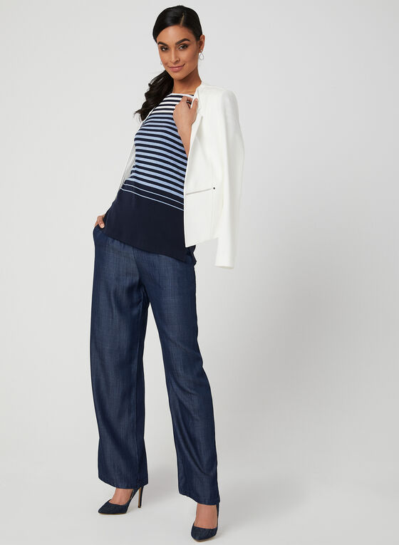 Modern Fit Wide Leg Pants, Blue, hi-res