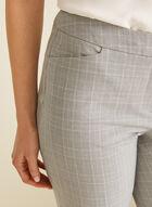 Pantalon coupe moderne motif tartan, Gris