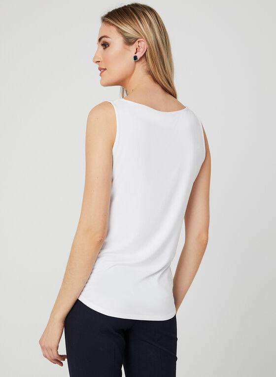 Sleeveless Scoop Neck Top , White