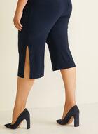 Capri à jambe large fendue, Bleu