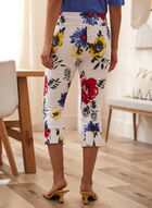 Charlie B - Printed Capri Pants, White