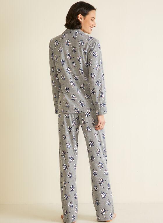 Ensemble pyjama à motif, Gris