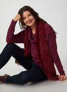 Cowl Neck Chenille Sweater, Purple