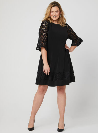 Fit & Flare Panelled Dress