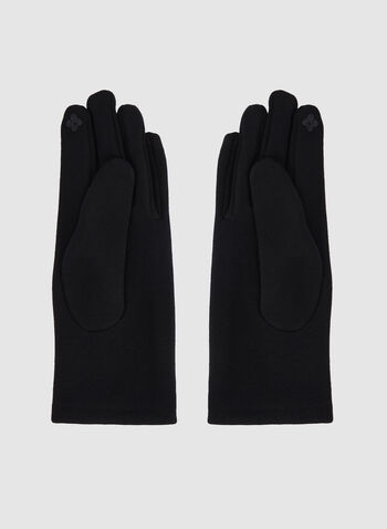 Knit Gloves, Black, hi-res