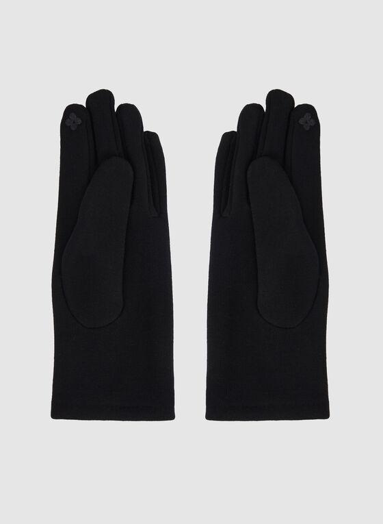 Knit Gloves, Black, hi-res