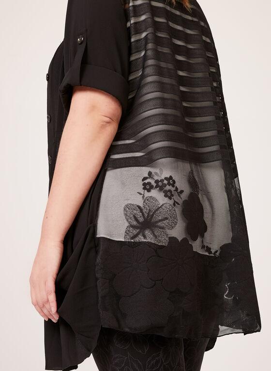 Lindi - Tunique chemisier plissée, Noir, hi-res