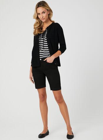 Alison Sheri - Bermuda 5 poches, Noir, hi-res