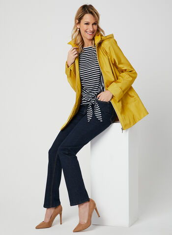 Stripe Print T-Shirt, Blue, hi-res,  short sleeves, drop shoulder, stripe print, tie, spring 2019