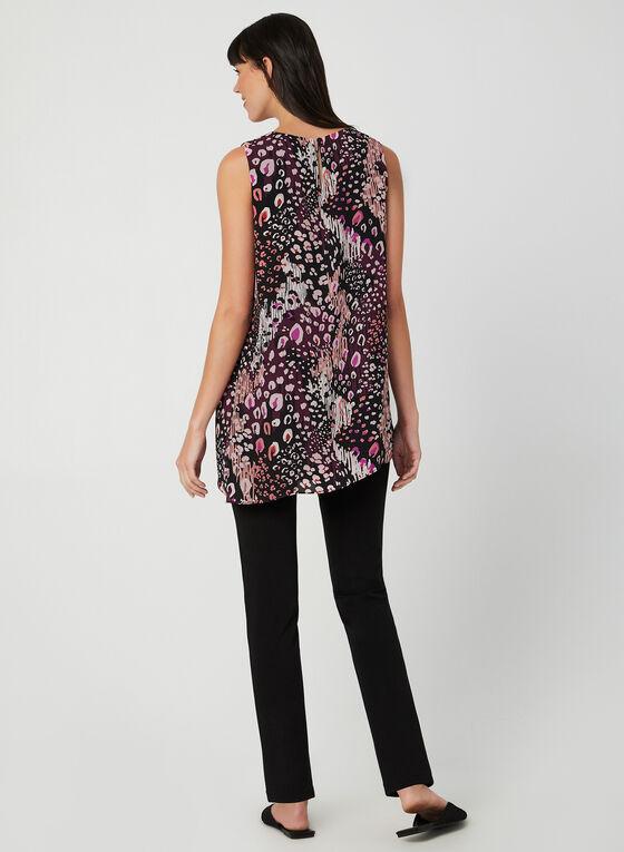 Abstract Print Sleeveless Top, Purple