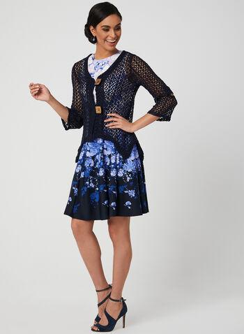 Nina Leonard - Crochet Bolero, Blue, hi-res,  cotton, lace, spring 2019