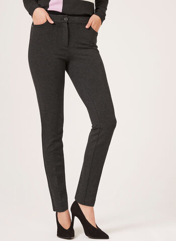 Modern Fit Slim Leg Pants, Grey, hi-res